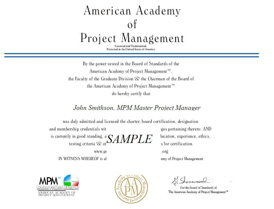 Aapm  Certified Project Manager Training Education Courses Seminars